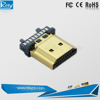 new product A type HDMI plug terminal connector 24k gold plated