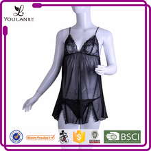 Long Experience Factory Fitness Breathable Black Girls Nighty Sexy Wear Lingerie