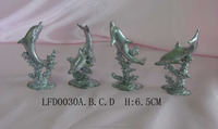 Hot selling bronze statue home and shop decoration dolphin metal sculpture