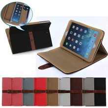 high quality girdle desgin belt clip case for iPad Mini 1 2 3, for ipad mini 1 2 3 case leather