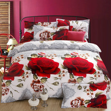 New fashion china factory flower design luxury customized cotton quilt 3d bed cover set