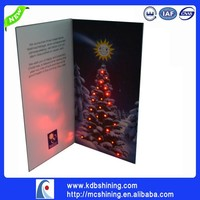 Alibaba Led Lighting Promotional Gift Card With Fiber Dots