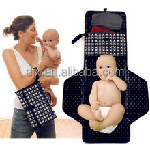 wholesale waterproof stylish Portable Foldable travel diaper changing pad mat bags