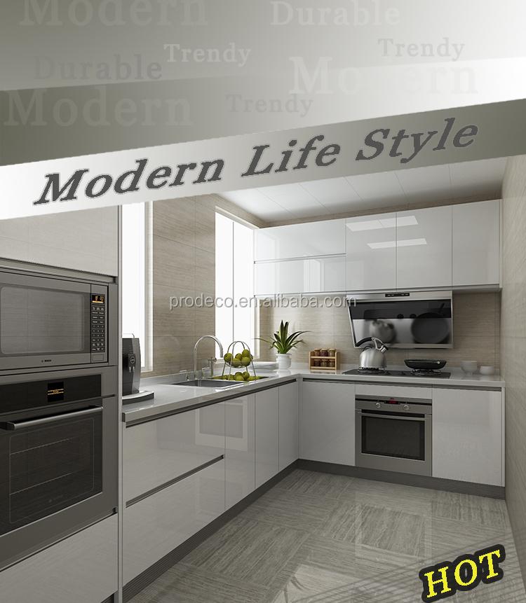 L vorm modulaire keuken ontwerpen met de prijs keuken kasten ...