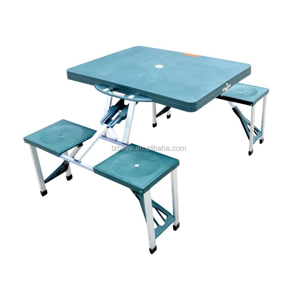 port til plegable campamento exterior maleta mesa de picnic con 4 asientos mesas plegables. Black Bedroom Furniture Sets. Home Design Ideas