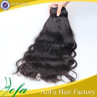 7A grade virgin brazilian human hair natrue wave black star hair weave braid