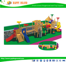 New Design Kids Wooden Slide Outdoor Playground For SaleLarge Outdoor Children Amusement Park Equipment Toys Outside