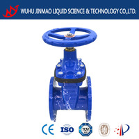 DN100 resilient seated ductile iron water supply gate valve