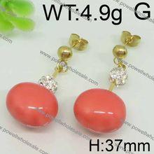 Rarity design plastic needle earrings