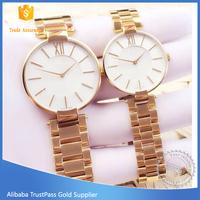 gold tone Couple Lover Wrist Watch,Pair Wrist Watch