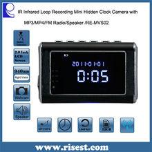 Wireless Motion Sensor Hidden Camera,Digital Wall Clock with Camera & Radio, Wireless Hidden Mini Camera