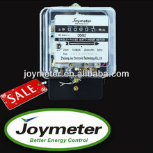 DD862 single phase transparent cover mechanical electric/energy/power meter