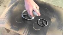 Acrílico aerosol de acero inoxidable pintura en aerosol de color, acero inoxidable revestimiento de pintura para coche