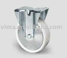 8 inch white PP caster,dust-proof cover,VIMA Caster Trolley Wheel