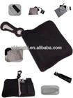 Microfiber óculos pano de limpeza com bolsa chaveiro
