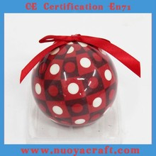 Factory custom Christmas ball with fashional pattern