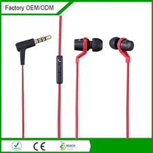Factory flat cable new design fashion metal earphone