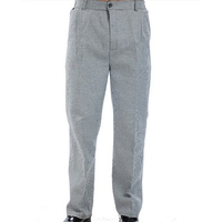 Fashion uniform work checked cooking pants