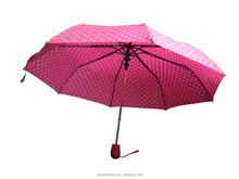 21 inch 8 k promotional outdoor auto open and close sun and rain folding umbrella in case