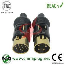 DC power circular 3 to 13 pin din connector