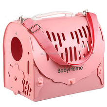 2015 new products foldable plastic dog carrier