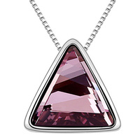 High Quality Jewelry Wholesale Triangle Pendant Necklace made with Swarovski elements
