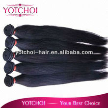 silky straight brazilian human hair, natural color unprocessed virgin hair weft with factory price