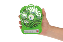 air-conditioning rechargeable battery office /home mini fan with LED light