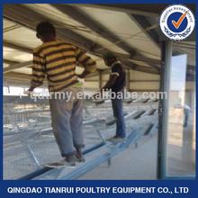 Equipos automáticos de avicultura galvanizados de tipo A para pollos/gallinas ponedoras de huevos