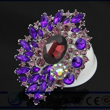 The new style of fashion crystal brooch Brooches accessories accessories purple brooch scarf buckle