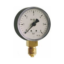 100 I,D2/D3 After the belt edge/Dry bourdon tube air pressure gauge with black steel case ,Pressure Measuring Instruments
