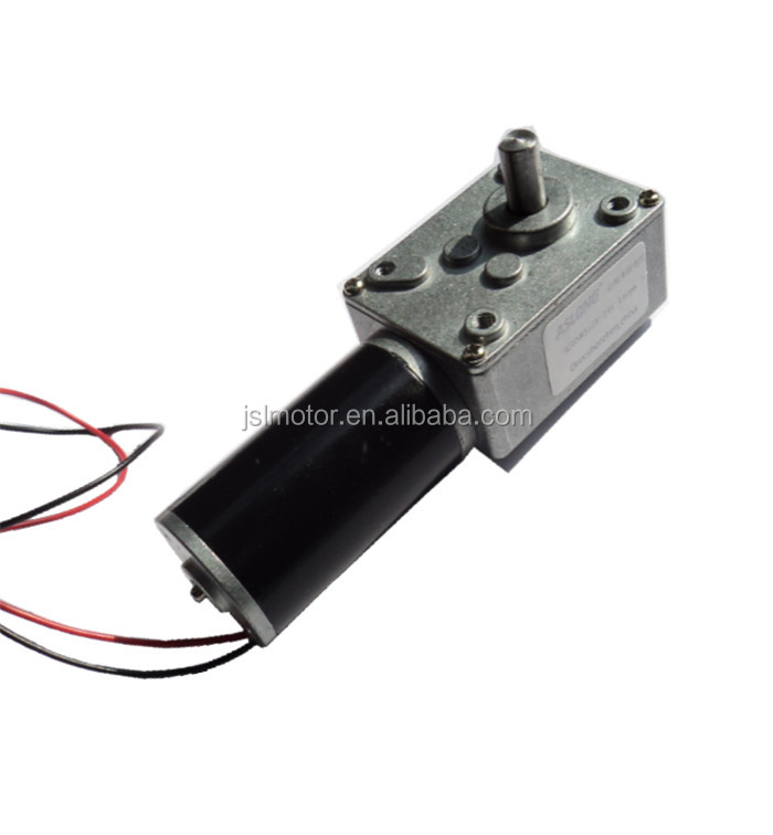 Hot sale aslong dc 12 volt worm gear motor with high for 12 volt high torque motor