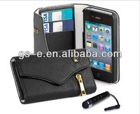 latest new fashion wallet case for iphone 5 , for apple iphone 5 modern full cover leather case