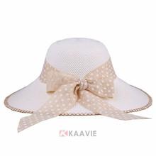 new beach summer hats custom wide brim straw bucket hat with string