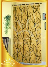 Voile background flocking joint taffeta window curtain