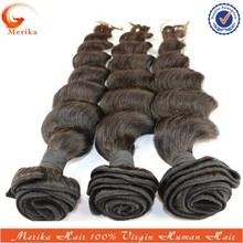 Wholesale cheap brazilian hair bundles, unprocessed natural color hair extenions, virgin brazilian loose wave hair