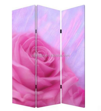 Lovely Rose Design Decorative Folding Screens Room Restaurant Curtains
