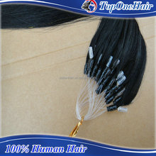 wholesale alibaba Chinese human hair 100% human virgin hair prebonded hair extensions loop hair