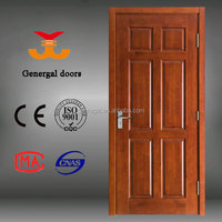 CE approved 100% Pure solid wood exterior wood lacquered doors