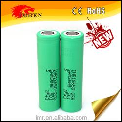 Samsung 18650-25r battery,3.7v Li-ion 2500mAh 30a battery, battery rechargable 18650 battery for mods