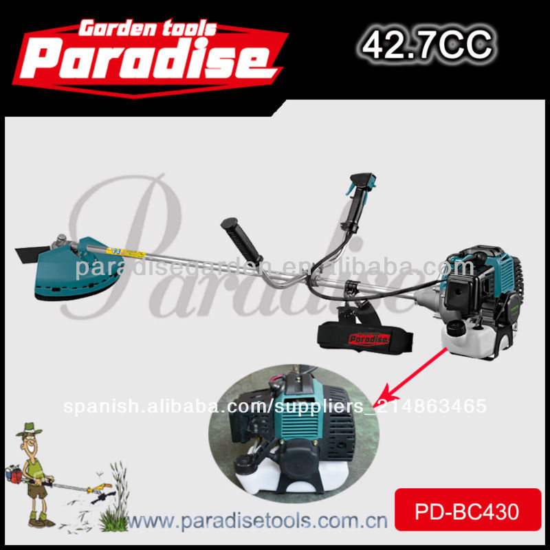 40mm cilindro diámetro motoguadañas pd-bc430 cortador de cepillo 43cc