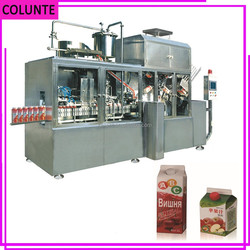 Henan Colunte KAT-1500 full automatic gable top juice filling and packing machines
