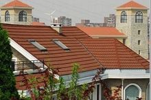 wholesale red stone coated steel roofing tiles roofing shingles factory