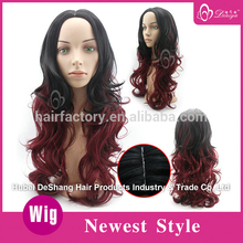 Deniya red and black highlights synthetic wig