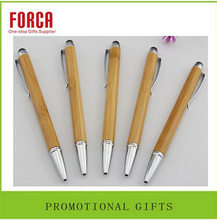 promotional products stationery custom logo wooden ball pen