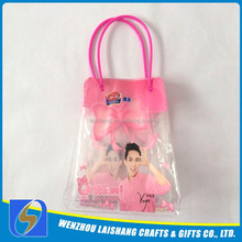 2014 factory professional custom hot sale pvc plastic handbag