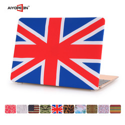 OEM factory Fashion British Flag Pattern PC Hard Cover Laptop Case For Macbook 11/12/13/15 inch