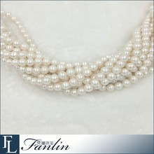 10-11mm Cultured Round Freshwater Loose Pearl Strand