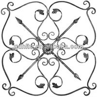 good quality of wrought iron rosette,wrought iron panel used on railing,staircase,gate and fence