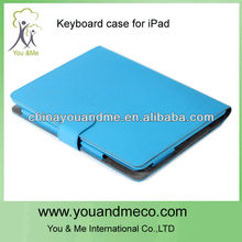 For iPad2/3 keyboard leather case with stand